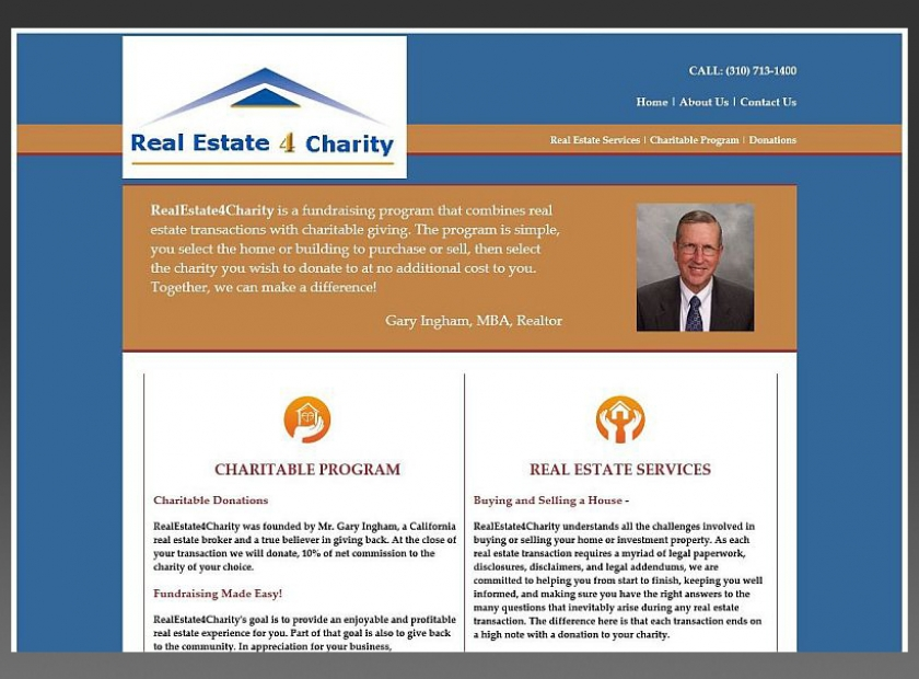 Realestate4Charity-Website-Sample